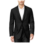 I-N-C Mens Solid Two Button Blazer Jacket