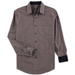 Tasso Elba Mens Checkered Long Sleeve Button Up Shirt