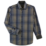 Tasso Elba Mens Classic Fit Plaid Button Up Shirt