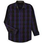 Tasso Elba Mens Plaid Long Sleeve Button Up Shirt