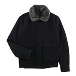Tasso Elba Mens Faux-Fur Collar Aviator Jacket