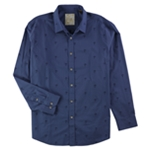 Tasso Elba Mens Embroidered Palm Tree Button Up Shirt