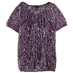 I-N-C Womens Ikat Knit Blouse
