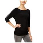 I-N-C Womens Zip Trim Basic T-Shirt