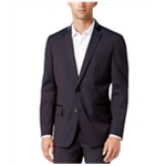 I-N-C Mens Mixed Media Two Button Blazer Jacket