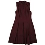 Alfani Womens Pleated A-line Dress