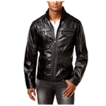 I-N-C Mens Zones Faux-Leather Motorcycle Jacket
