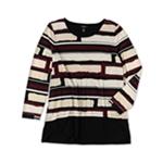 Alfani Womens Striped Pullover Blouse