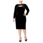 I-N-C Womens Velvet Sheath Dress