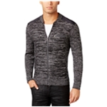 I-N-C Mens Manchester Heathered Mixed Cardigan Sweater