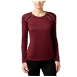 I-N-C Womens Lace-Up Pullover Sweater