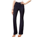 I-N-C Womens Contrast Stitching Flared Jeans