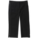 Alfani Womens Leather Trim Casual Trousers