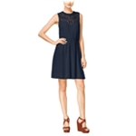 maison Jules Womens Cinched Waist A-line Dress
