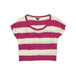 Ecko Unltd. Womens Cropped Striped Knit Sweater