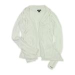 Ecko Unltd. Womens Solid Color Mesh Drape Knit Sweater