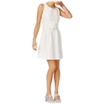 maison Jules Womens Applique Shift Dress