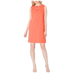 Tahari Womens Lace Up A-line Dress