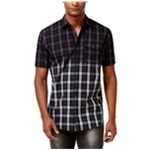 I-N-C Mens Ombre Button Up Shirt