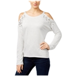 I-N-C Womens Embellished Sweatshirt