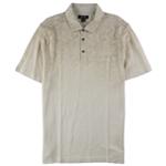 Tasso Elba Mens Linen Paisley Fade Rugby Polo Shirt