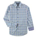 Tasso Elba Mens Plaid Button Up Shirt