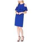 Tahari Womens Ruffle Shift Dress