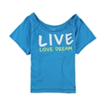 Aeropostale Womens Live Love Dream Pajama Sleep T-shirt