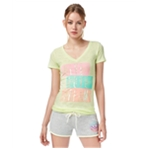 Aeropostale Womens Sequin Stack Graphic T-Shirt