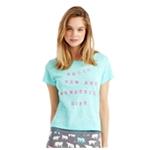 Aeropostale Womens Hello Life Embellished T-Shirt