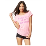 Aeropostale Womens Texting Is My Cardio Graphic T-Shirt