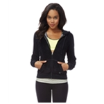 Aeropostale Womens Velour Full Zip Sleep Hoodie Sweatshirt