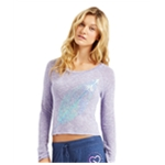 Aeropostale Womens Sequin Feather Pullover Sweater