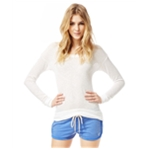 Aeropostale Womens Knit Hi-Lo Pullover Sweater