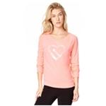Aeropostale Womens Sequin Heart Sweatshirt