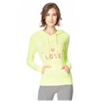 Aeropostale Womens Love Sequins Pullover Hoodie Sweatshirt
