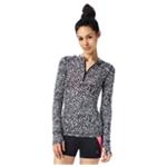Aeropostale Womens Spotted Quarter Zip Hoodie Sweatshirt
