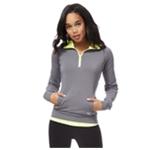 Aeropostale Womens Quarter Zip Pullover Pajama Sleep T-shirt