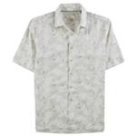 Tasso Elba Mens Dot Work Button Up Shirt