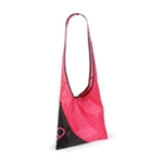 Aeropostale Womens Heart Pouch Hobo Messenger Bag
