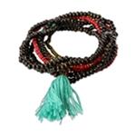 Aeropostale Womens Beaded Set Stretch Bracelet