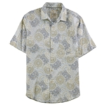 Tasso Elba Mens Floral Kaleidoscope Button Up Shirt