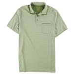 Tasso Elba Mens Striped Pocket Rugby Polo Shirt