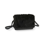 Aeropostale Womens Boxy Faux-Fur Cross Body Handbag Purse