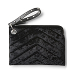 Aeropostale Womens Velour Clutch Handbag Purse
