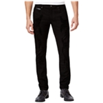 I-N-C Mens Faux Leather Trim Skinny Fit Jeans