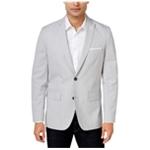 I-N-C Mens Heathered Two Button Blazer Jacket