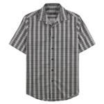Tasso Elba Mens Check Button Up Shirt