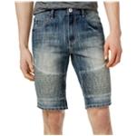 I-N-C Mens Moto Jean Casual Denim Shorts