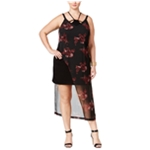 mblm Womens Asymmetric Floral Maxi Dress
